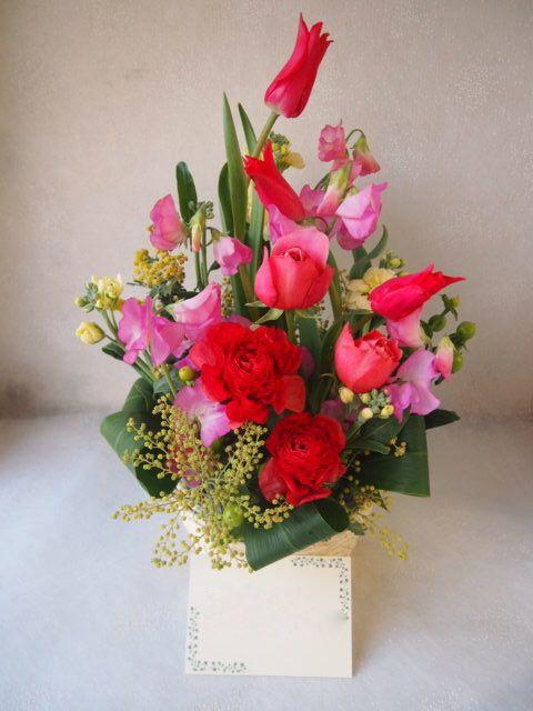 花ギフト|フラワーギフト|誕生日 花|カノシェ話題|スタンド花|ウエディングブーケ|花束|花屋|53097
