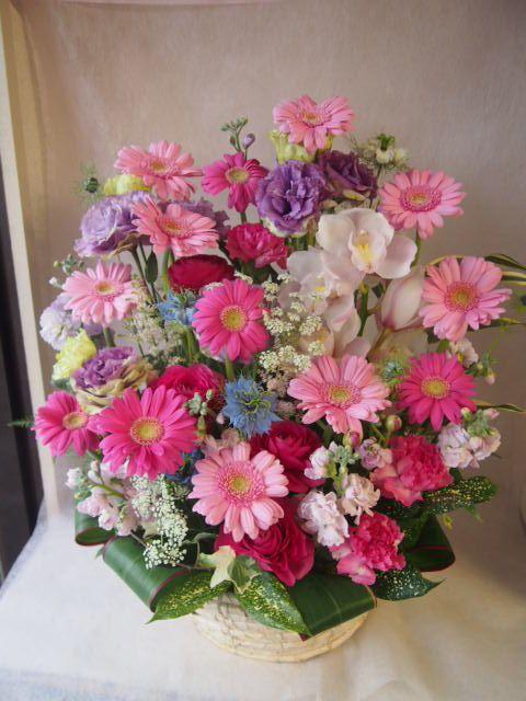 花ギフト|フラワーギフト|誕生日 花|カノシェ話題|スタンド花|ウエディングブーケ|花束|花屋|46508