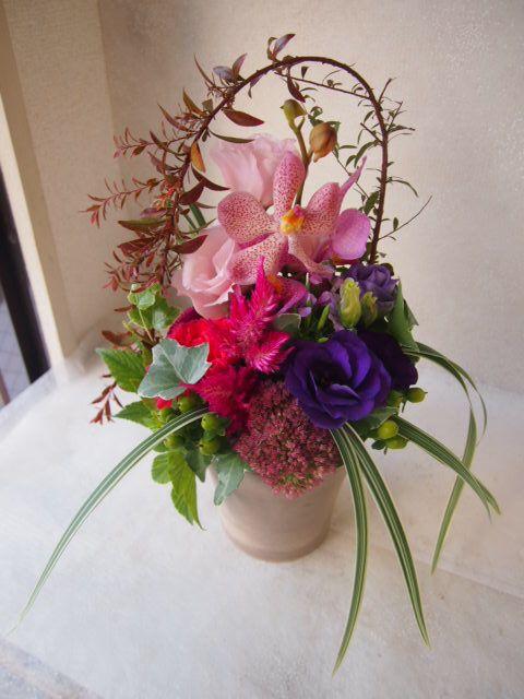 花ギフト|フラワーギフト|誕生日 花|カノシェ話題|スタンド花|ウエディングブーケ|花束|花屋|50584