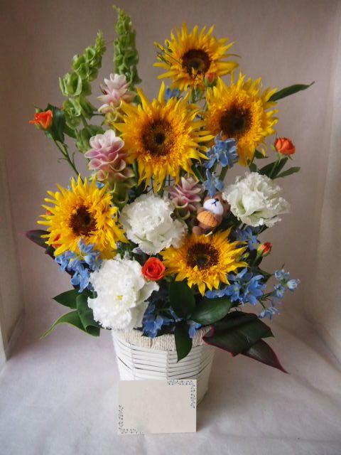 花ギフト|フラワーギフト|誕生日 花|カノシェ話題|スタンド花|ウエディングブーケ|花束|花屋|41286(1)