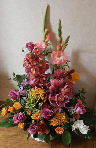 花ギフト|フラワーギフト|誕生日 花|カノシェ話題|スタンド花|ウエディングブーケ|花束|花屋|シンビジューム
