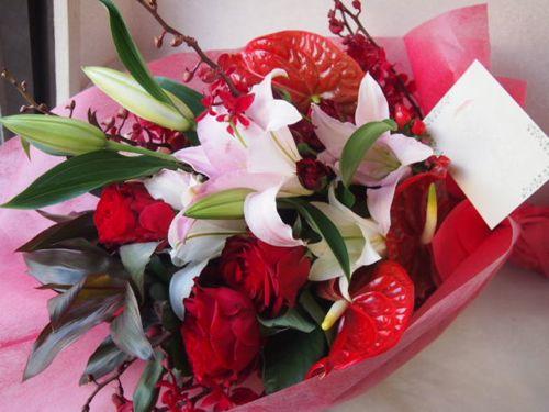 花ギフト|フラワーギフト|誕生日 花|カノシェ話題|スタンド花|ウエディングブーケ|花束|花屋|55138