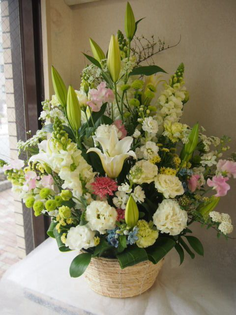 花ギフト|フラワーギフト|誕生日 花|カノシェ話題|スタンド花|ウエディングブーケ|花束|花屋|54263