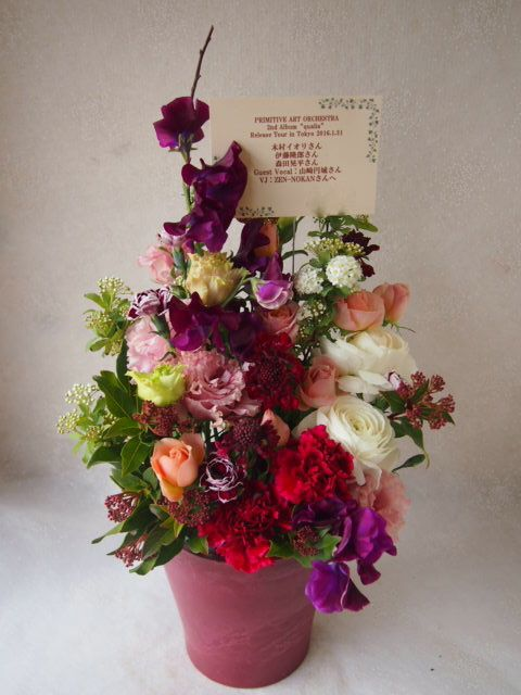 花ギフト|フラワーギフト|誕生日 花|カノシェ話題|スタンド花|ウエディングブーケ|花束|花屋|53429(1)