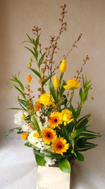 花ギフト|フラワーギフト|誕生日 花|カノシェ話題|スタンド花|ウエディングブーケ|花束|花屋|54725