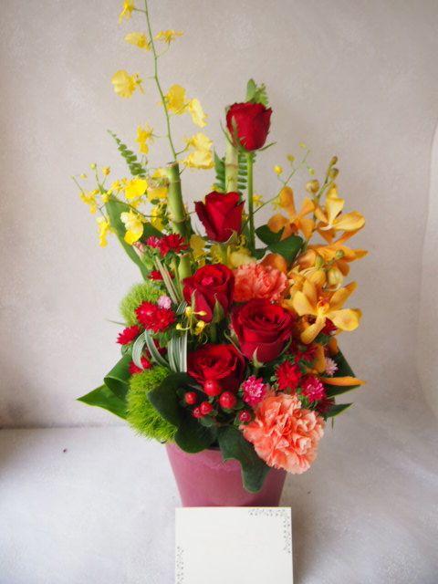 花ギフト|フラワーギフト|誕生日 花|カノシェ話題|スタンド花|ウエディングブーケ|花束|花屋|58173