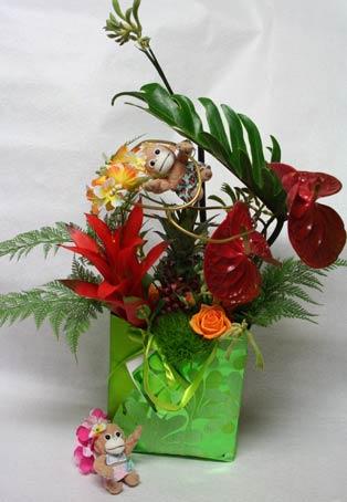 花ギフト|フラワーギフト|誕生日 花|カノシェ話題|スタンド花|ウエディングブーケ|花束|花屋|さる2