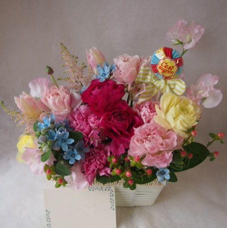 花ギフト|フラワーギフト|誕生日 花|カノシェ話題|スタンド花|ウエディングブーケ|花束|花屋|46291