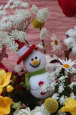 花ギフト|フラワーギフト|誕生日 花|カノシェ話題|スタンド花|ウエディングブーケ|花束|花屋|SNOWMAN2