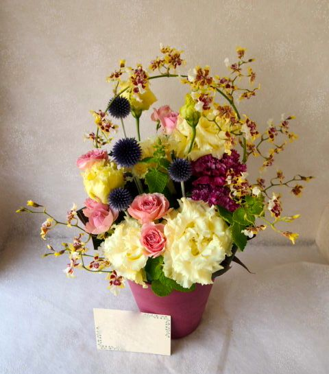 花ギフト|フラワーギフト|誕生日 花|カノシェ話題|スタンド花|ウエディングブーケ|花束|花屋|57015