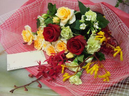 花ギフト|フラワーギフト|誕生日 花|カノシェ話題|スタンド花|ウエディングブーケ|花束|花屋|56433
