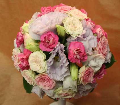 花ギフト フラワーギフト 誕生日 花 カノシェ話題 スタンド花 ウエディングブーケ 花束 花屋 愛さん ラウンド