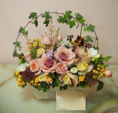 花ギフト|フラワーギフト|誕生日 花|カノシェ話題|スタンド花|ウエディングブーケ|花束|花屋|53660