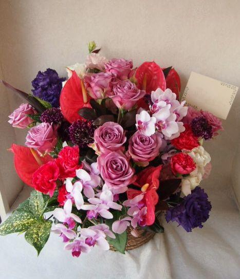 花ギフト|フラワーギフト|誕生日 花|カノシェ話題|スタンド花|ウエディングブーケ|花束|花屋|56956