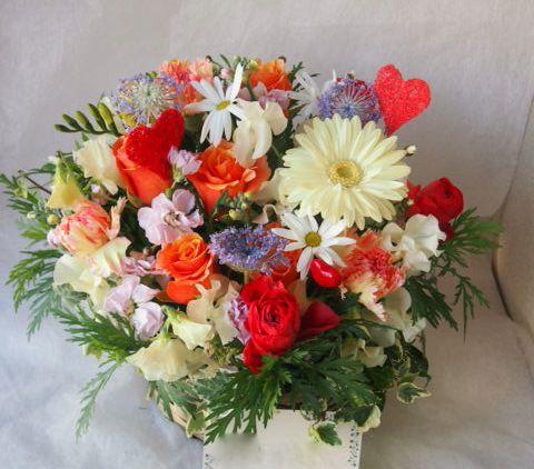花ギフト|フラワーギフト|誕生日 花|カノシェ話題|スタンド花|ウエディングブーケ|花束|花屋|45504