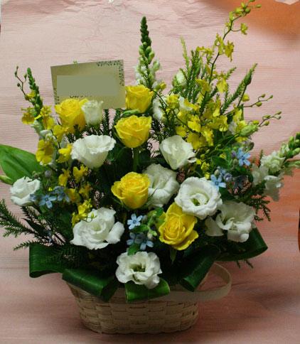 花ギフト|フラワーギフト|誕生日 花|カノシェ話題|スタンド花|ウエディングブーケ|花束|花屋|まさみ 黄色