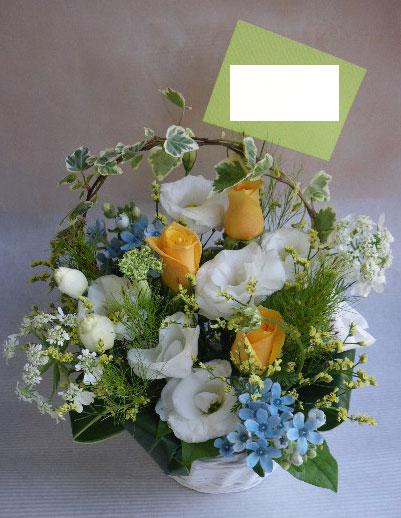 花ギフト|フラワーギフト|誕生日 花|カノシェ話題|スタンド花|ウエディングブーケ|花束|花屋|あゆ 黄色