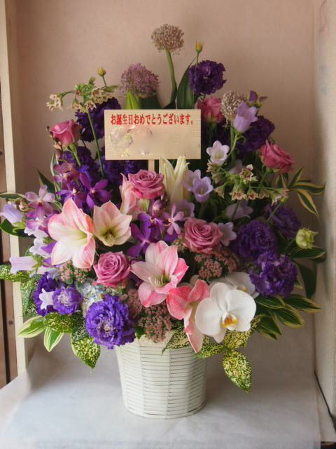 花ギフト|フラワーギフト|誕生日 花|カノシェ話題|スタンド花|ウエディングブーケ|花束|花屋|40820