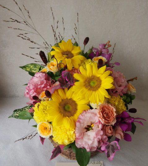 花ギフト|フラワーギフト|誕生日 花|カノシェ話題|スタンド花|ウエディングブーケ|花束|花屋|57556