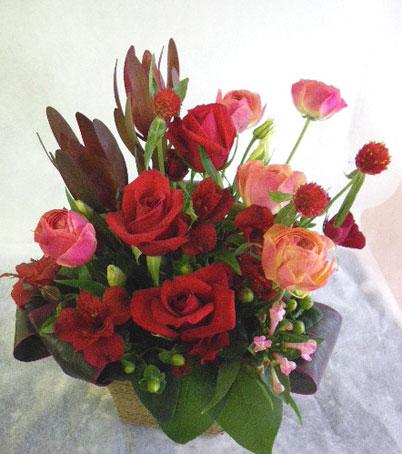 花ギフト|フラワーギフト|誕生日 花|カノシェ話題|スタンド花|ウエディングブーケ|花束|花屋|さち 赤