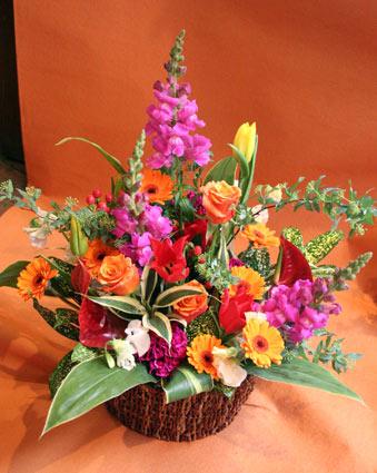 花ギフト フラワーギフト 誕生日 花 カノシェ話題 スタンド花 ウエディングブーケ 花束 花屋 カラフル