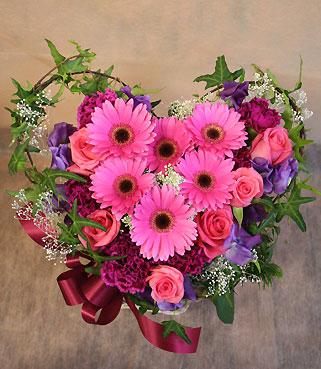 花ギフト|フラワーギフト|誕生日 花|カノシェ話題|スタンド花|ウエディングブーケ|花束|花屋|ハート4