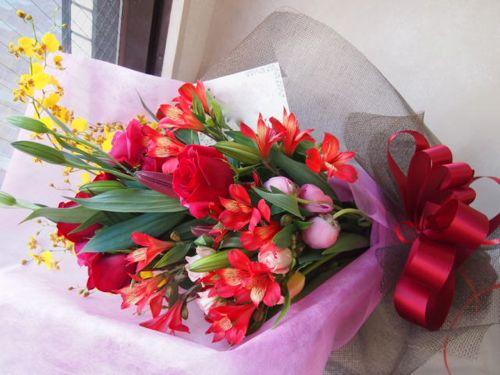 花ギフト|フラワーギフト|誕生日 花|カノシェ話題|スタンド花|ウエディングブーケ|花束|花屋|54396