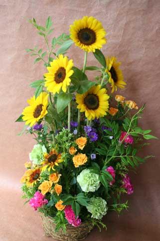 花ギフト|フラワーギフト|誕生日 花|カノシェ話題|スタンド花|ウエディングブーケ|花束|花屋|ひまわり秋