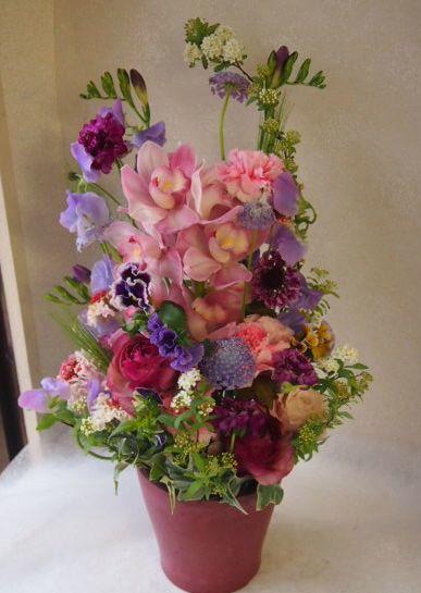 花ギフト|フラワーギフト|誕生日 花|カノシェ話題|スタンド花|ウエディングブーケ|花束|花屋|53501