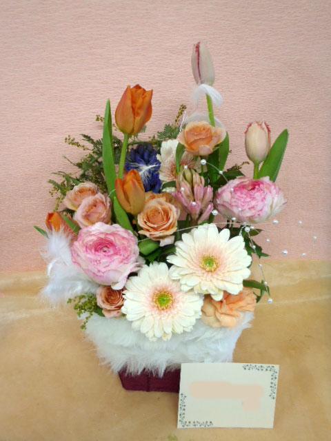 花ギフト|フラワーギフト|誕生日 花|カノシェ話題|スタンド花|ウエディングブーケ|花束|花屋|feminine