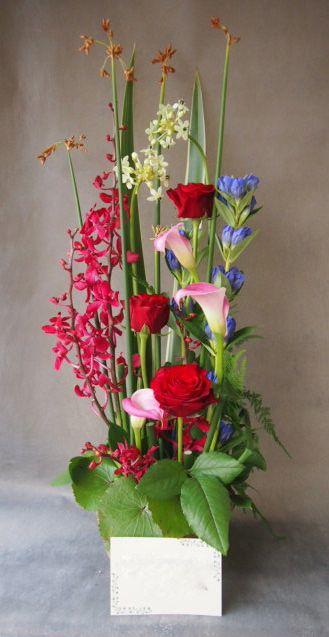 花ギフト フラワーギフト 誕生日 花 カノシェ話題 スタンド花 ウエディングブーケ 花束 花屋 49717