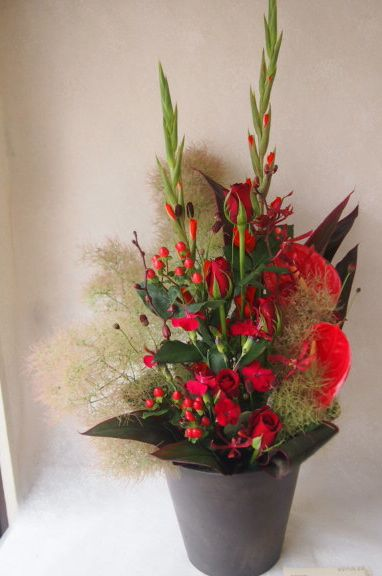 花ギフト|フラワーギフト|誕生日 花|カノシェ話題|スタンド花|ウエディングブーケ|花束|花屋|56443