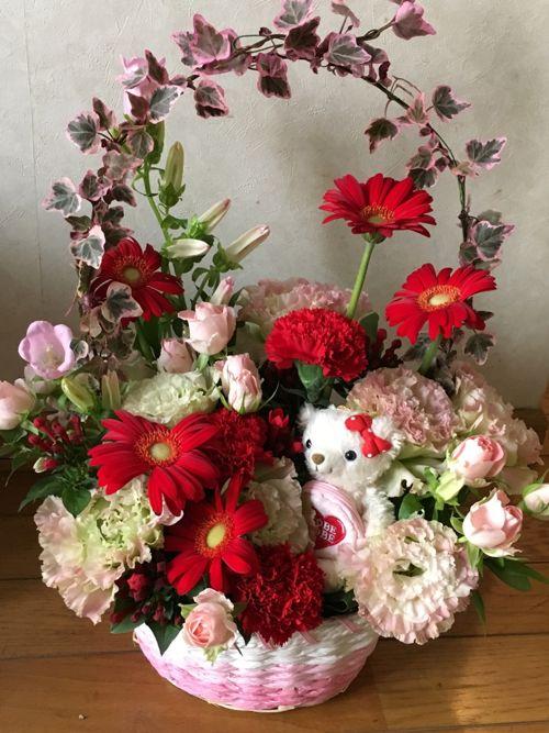 花ギフト|フラワーギフト|誕生日 花|カノシェ話題|スタンド花|ウエディングブーケ|花束|花屋|IMG_1009