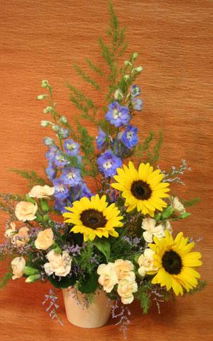 花ギフト|フラワーギフト|誕生日 花|カノシェ話題|スタンド花|ウエディングブーケ|花束|花屋|たなかさん ひまわり