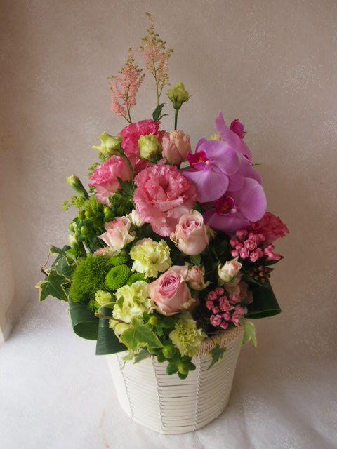 花ギフト|フラワーギフト|誕生日 花|カノシェ話題|スタンド花|ウエディングブーケ|花束|花屋|55494