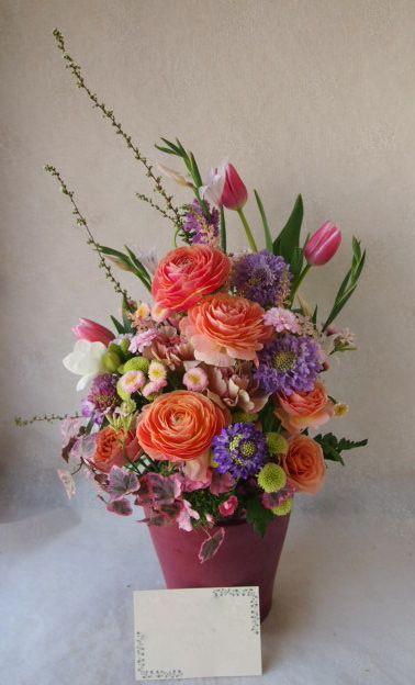 花ギフト|フラワーギフト|誕生日 花|カノシェ話題|スタンド花|ウエディングブーケ|花束|花屋|54712