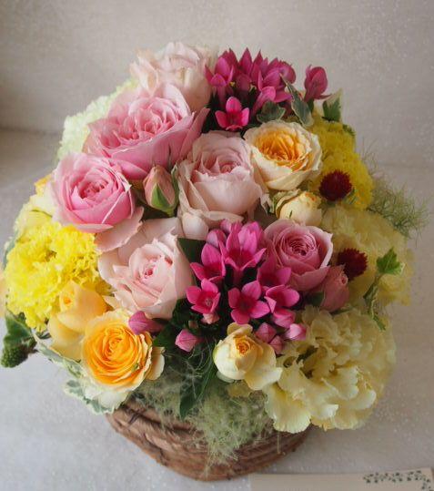 花ギフト|フラワーギフト|誕生日 花|カノシェ話題|スタンド花|ウエディングブーケ|花束|花屋|48625