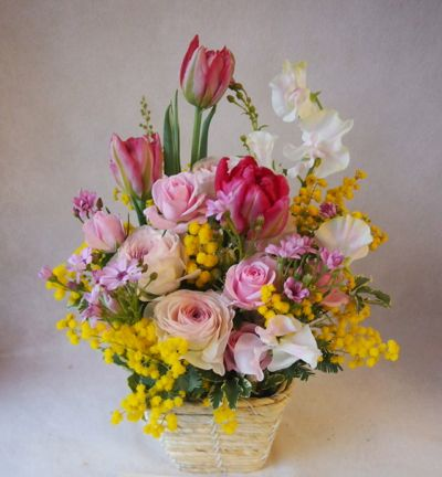 花ギフト|フラワーギフト|誕生日 花|カノシェ話題|スタンド花|ウエディングブーケ|花束|花屋|38421