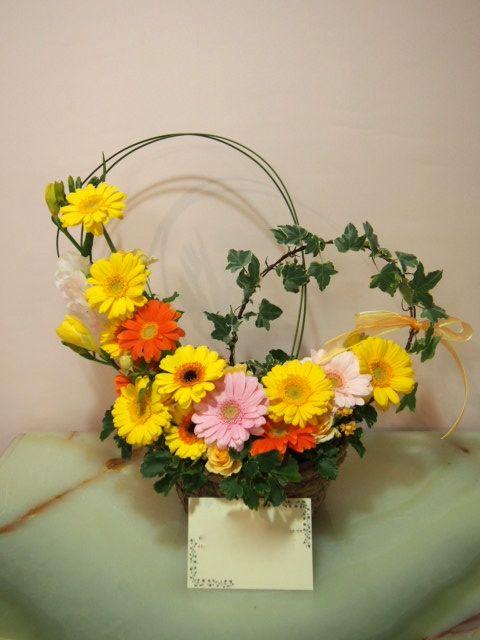 花ギフト|フラワーギフト|誕生日 花|カノシェ話題|スタンド花|ウエディングブーケ|花束|花屋|53729