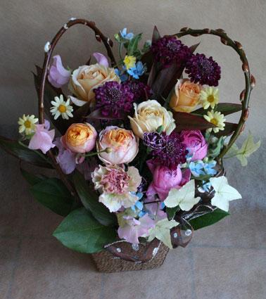花ギフト フラワーギフト 誕生日 花 カノシェ話題 スタンド花 ウエディングブーケ 花束 花屋 heart