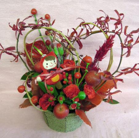 花ギフト|フラワーギフト|誕生日 花|カノシェ話題|スタンド花|ウエディングブーケ|花束|花屋|赤ずきんハート
