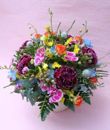 花ギフト|フラワーギフト|誕生日 花|カノシェ話題|スタンド花|ウエディングブーケ|花束|花屋|えみこさんラウンド