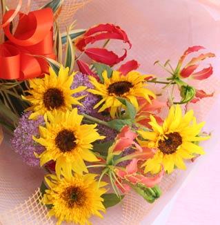 花ギフト フラワーギフト 誕生日 花 カノシェ話題 スタンド花 ウエディングブーケ 花束 花屋 2014_f_b