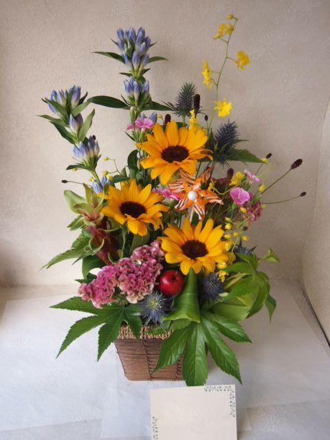 花ギフト|フラワーギフト|誕生日 花|カノシェ話題|スタンド花|ウエディングブーケ|花束|花屋|49956