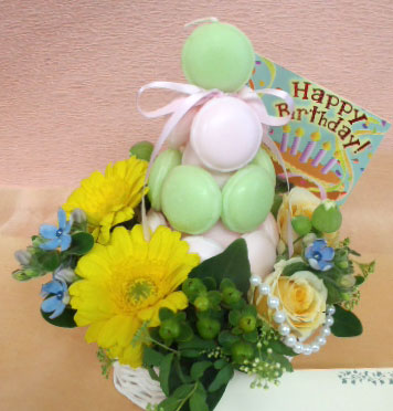 花ギフト|フラワーギフト|誕生日 花|カノシェ話題|スタンド花|ウエディングブーケ|花束|花屋|makaron-irochigai
