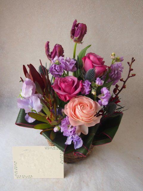 花ギフト|フラワーギフト|誕生日 花|カノシェ話題|スタンド花|ウエディングブーケ|花束|花屋|54697