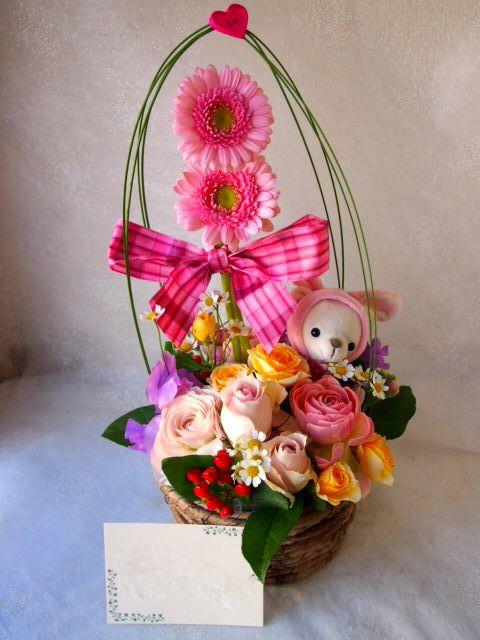 花ギフト|フラワーギフト|誕生日 花|カノシェ話題|スタンド花|ウエディングブーケ|花束|花屋|53158