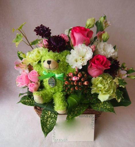 花ギフト|フラワーギフト|誕生日 花|カノシェ話題|スタンド花|ウエディングブーケ|花束|花屋|40703