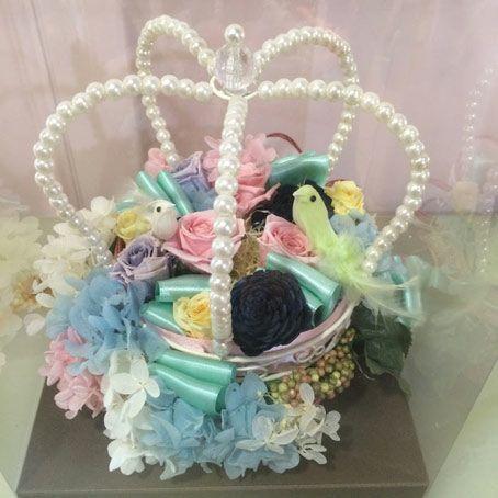 花ギフト|フラワーギフト|誕生日 花|カノシェ話題|スタンド花|ウエディングブーケ|花束|花屋|pri_crown_bird(2)