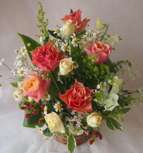 花ギフト|フラワーギフト|誕生日 花|カノシェ話題|スタンド花|ウエディングブーケ|花束|花屋|46357